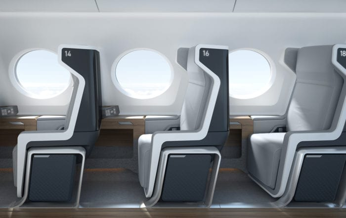 Boom Supersonic Jet Interior fit up
