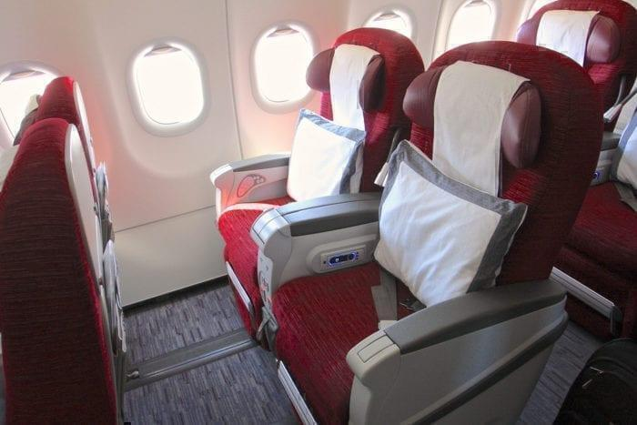 Qatar A320 Business Class Seating