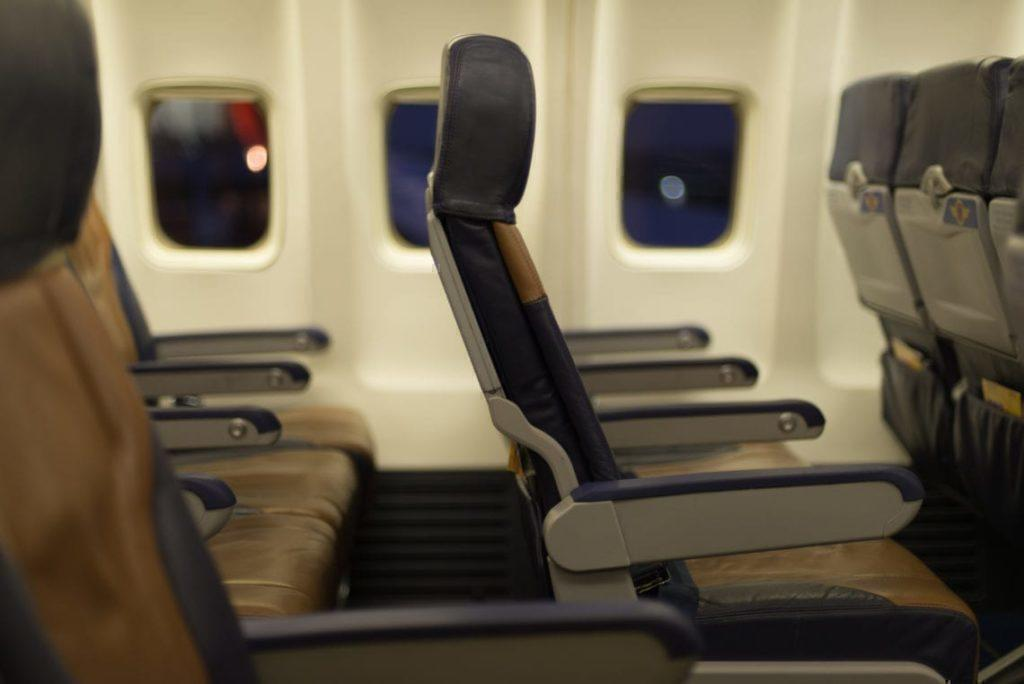 Southwest Airlines airplane seats