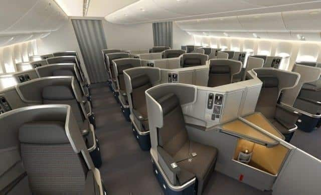 B777-300ER business class on American Airlines