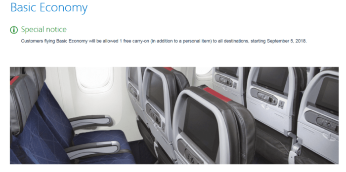 American Airlines Are Bringing Back Carry On Bags On Basic
