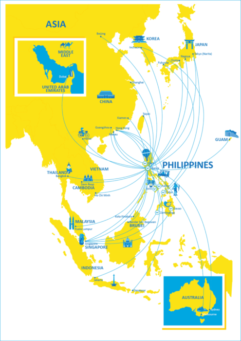 Cebu Pac route map