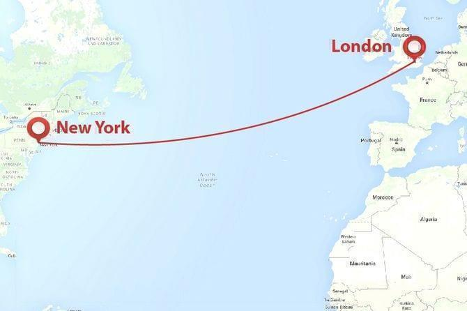 Map Of 287 New York.287 Virgin Atlantic London New York Rt Flights Simple Flying
