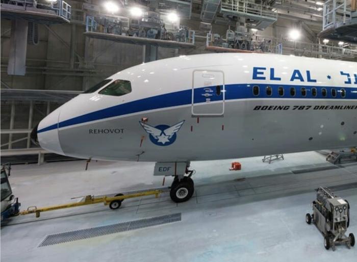 The new El Al Dreamliner livery