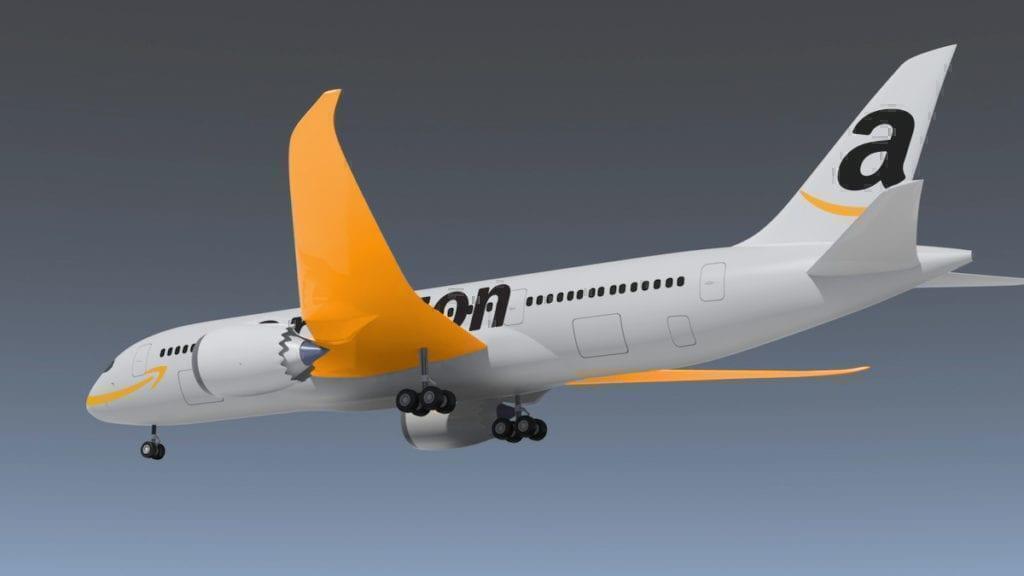 Amazon plane mockup