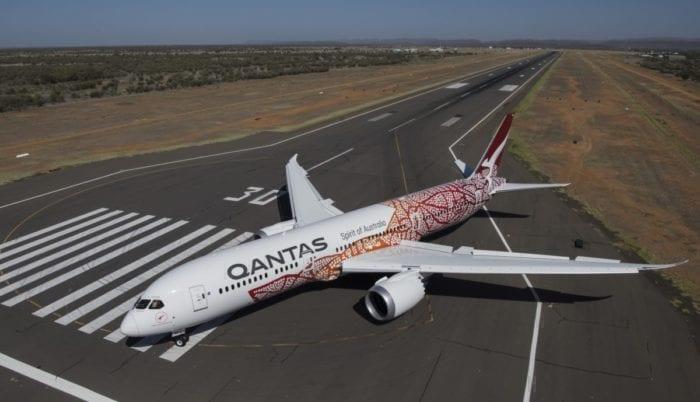 A Qantas 787 operating QF9.
