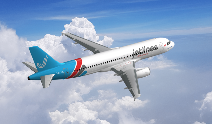A Jetlines A320 in flight.