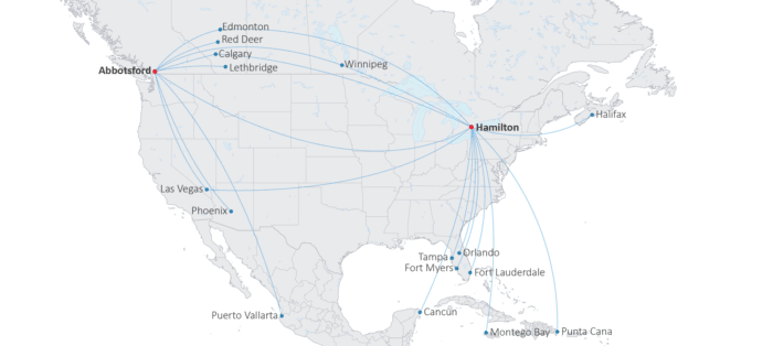 Map showing Jetlines final route network.
