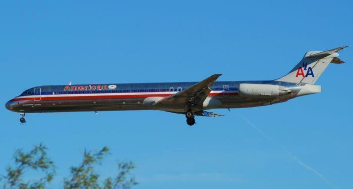 AA MD-80 Side Profile