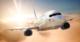B737 flying at Sunset