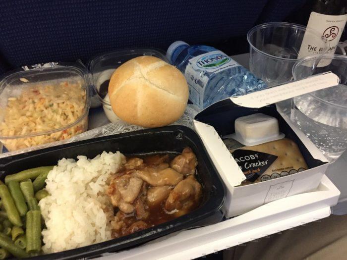 KLM long haul food