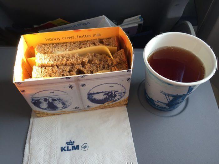 KLM short haul food
