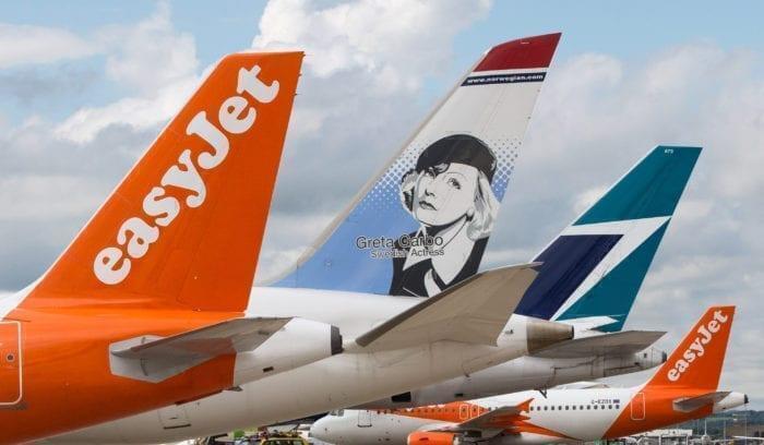 Norwegian EasyJet WestJet Tail