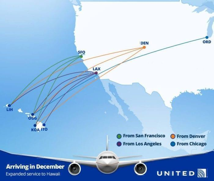united routes to hawaii
