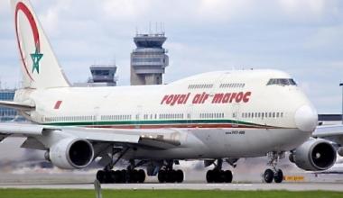 Royal Air Maroc plane landing