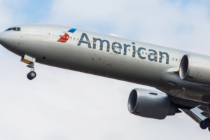 AA aircraft taking off