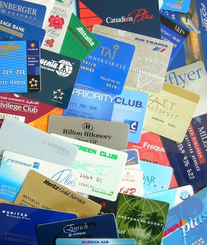 Airline loyalty cards