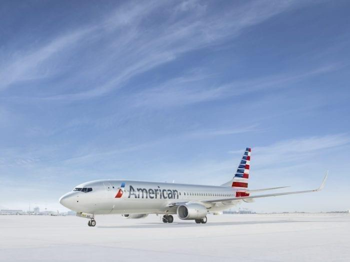 American Airlines 737 on the tarmac