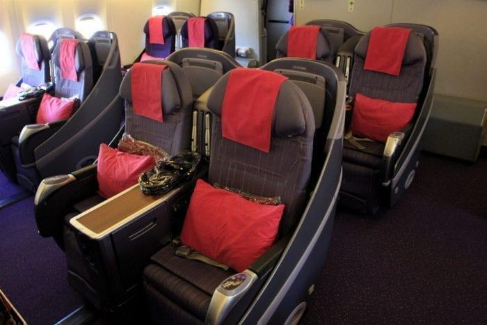 BUsiness class Thai Airways