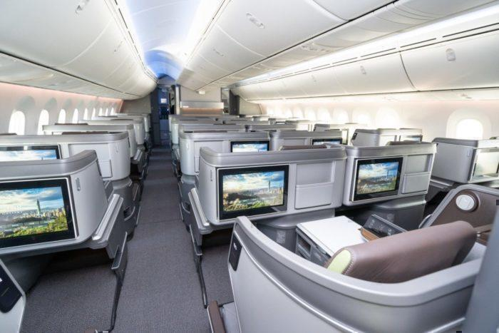 EVA Air dreamliner business class