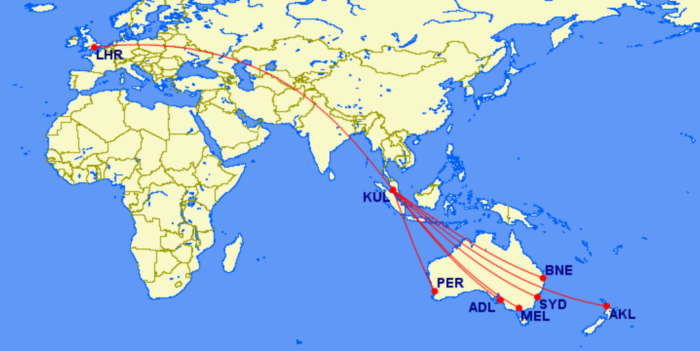 Malaysia long haul options