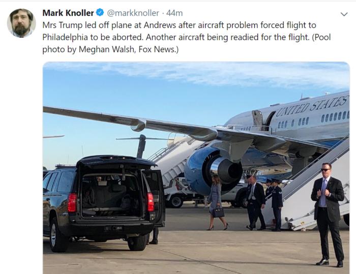 First Lady Plane Emergency
