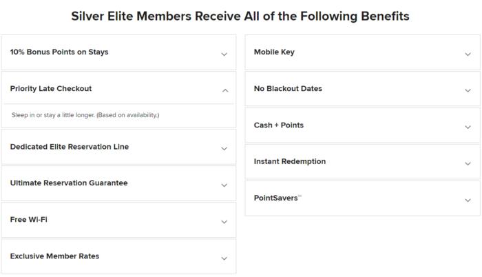 Marriott Silver Status benefits