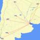 Norwegian Argentina route map
