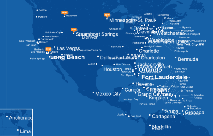 Jet Blue Thinks It Can 'Disrupt' Business Cl Flights To ... Map Jetblueroute on