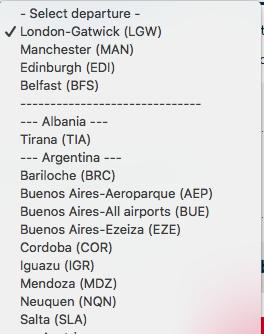 Argentina Norwegian Air