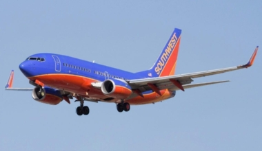 Southwest Airlines in flight