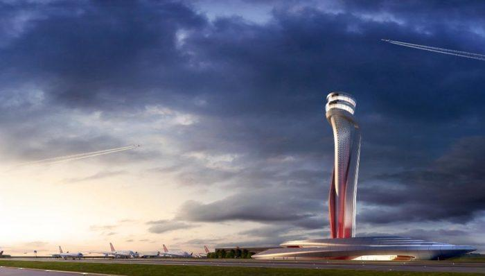 The tulip shaped control tower won architectural awards