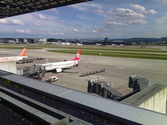 Zurich Airport observation deck