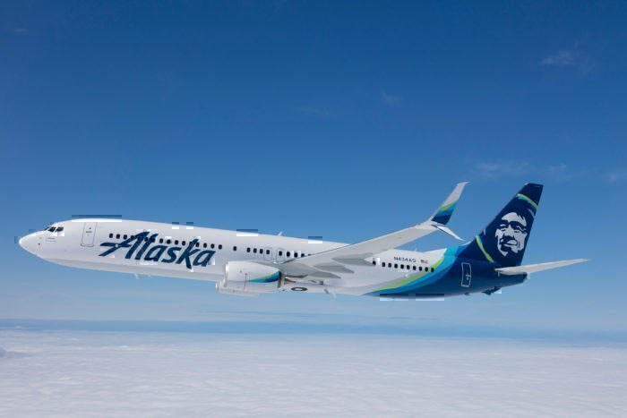 Alaska Airlines in flight