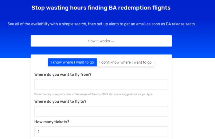 BA Redemption Finder