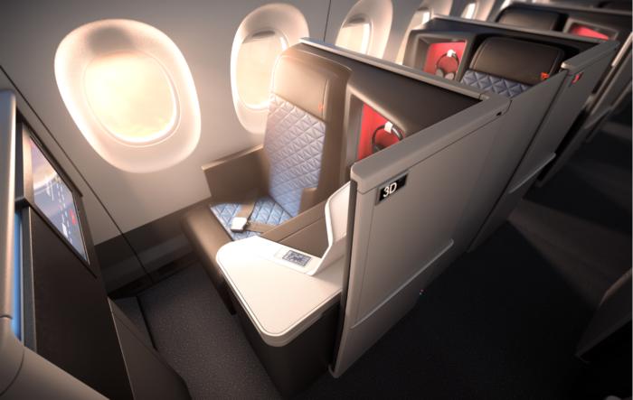 Delta A350 business class seats