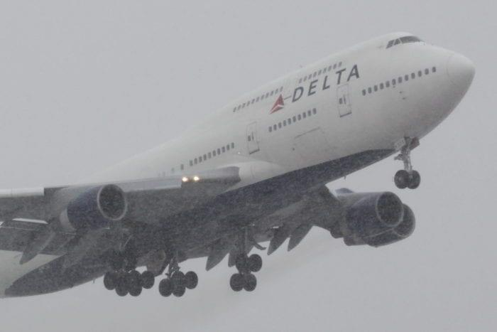 Delta in the snow