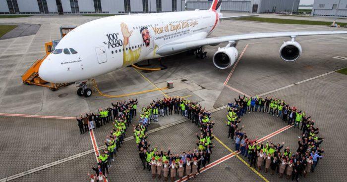 Emirates 100th airbus A380