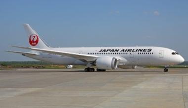 A Japan Airlines Dreamliner