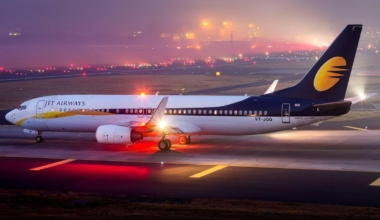 Jet airways on runway