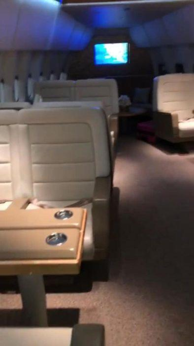 Kimye 747 chill room