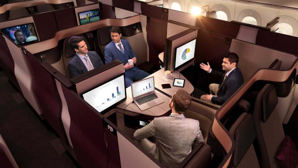 Qatar Airways' 787-9 Dreamliner Qsuite