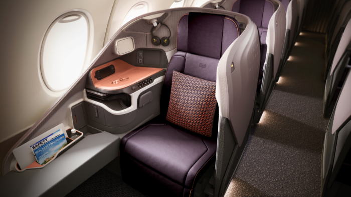 Singapore a350 business class seats