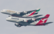 qantas emirates flypast of two A380