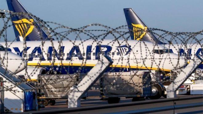 ryanair plane seized