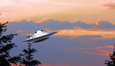UFO at Sunset