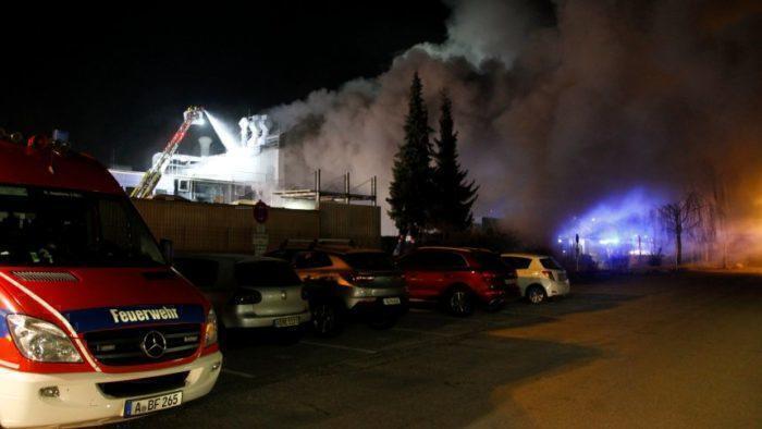 Fire at Premium Aerotec