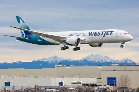 WestJet's First 787 Takes Off