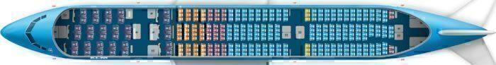 777 KLM layout