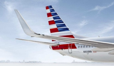 American 737 Tail